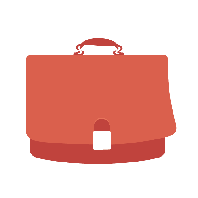 suitcase for working after retirement icon