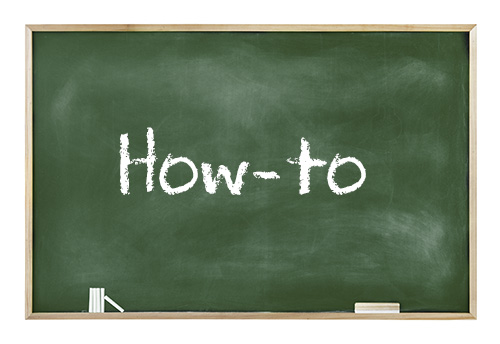 decorative image: chalkboard which says 'how-to'